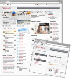 RedRow Intranet Homepage Design by Interact Intranet by interact intranet, via Flickr