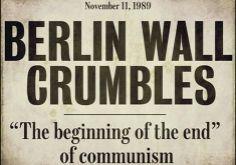 Headline Berlin Wall Crumbles 1989
