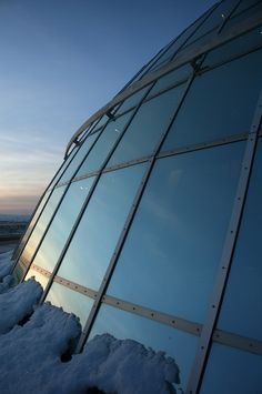Perlan Viewing Deck on a wintry morning