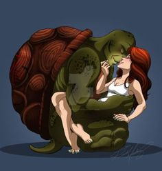 Raphril Week - Rest by on DeviantArt Cartoon Games, Cartoon Shows, Cartoon Art, Ninja Turtles Art, Teenage Mutant Ninja Turtles, Tmnt April, Tmnt Girls, Tmnt Comics, Paper Crafts Origami