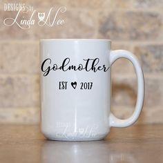 Godmother Mug, Personalized Godmother Established Mug, Baby Reveal Mug, Will you be Godmother Mug, Godmother Established Mug New Baby MPH344