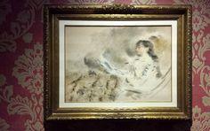 La Principessa Saint-Leger sulla sedia a sdraio (Daniele Ranzoni, 1886, GAM, Milano)