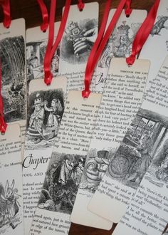 Use pages from an old children's book to make these fun bookmarks.