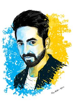 Quick illustration for the outstanding actor Ayushmann Khurrana. Art Drawings For Kids, Pencil Art Drawings, Art Drawings Sketches, Horse Drawings, Pencil Sketch Portrait, Portrait Sketches, Black Art Painting, Art Painting Gallery, Pop Art Portraits