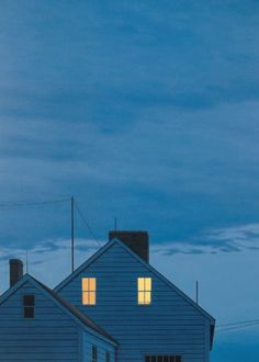 """Twilight"" by Quint Buchholz............I LOVE IT WHEN THE OWER LEAVES A LIGHT ON IN THE WINDOW FOR US...............ccp"