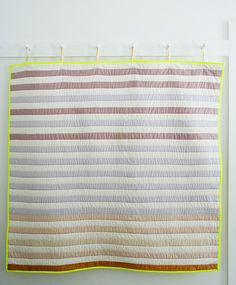 Molly's Sketchbook: Watercolor Quilt// not a big fan of the neon binding, but it's so lovely and simple
