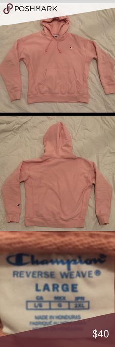 ef377aa28d0c2 Women s pink champion hoodie Size large Worn twice Champion Tops  Sweatshirts   Hoodies