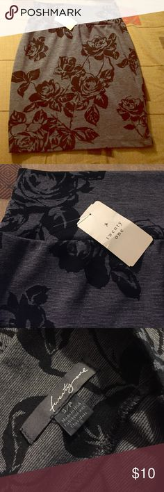 F21 Dark Gray and Black Mini Skirt NWT Dark Gray and Black Rose Imprint Mini Skirt. Perfect for all season and can easily be dressed up or down. Forever 21 Skirts Mini