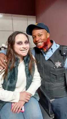Kevin and Jennifer in sfx makeup for the film The Sacrifice. Makeup by Valerie Vanderkolk 2-28-15
