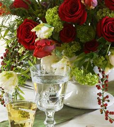 beautiful arrangement for a holiday dinner party or open house