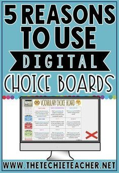 Digital Choice Boards are a great way to differentiate learning while engaging students in meaningful, paperless activities. Teaching Technology, Educational Technology, Instructional Technology, Instructional Strategies, Educational Assistant, Instructional Design, Online Classroom, School Classroom, Science Classroom