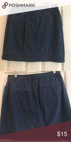Blue mini 100% cotton. Pin tuck detail at hem. Boden Skirts Mini
