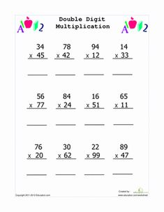 math worksheet : multiplication multiplication worksheets and multiplication  : Short Multiplication Worksheets