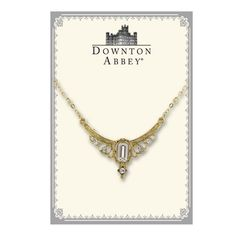 Downton Abbey® Boxed Gold-Tone Crystal Statement Necklace