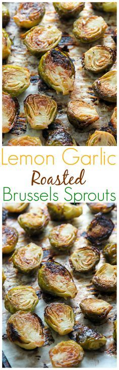 Lemon Garlic Brussels Sprouts! (AF: the red pepper made it a little to spicy for us, will use less next time)