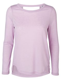 Open back top from VERO MODA in a powdery purple hue. We love this pastel colour.