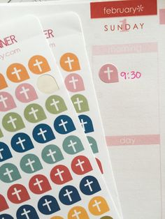 Hey, I found this really awesome Etsy listing at https://www.etsy.com/listing/220552090/church-stickers-for-your-planner-cross