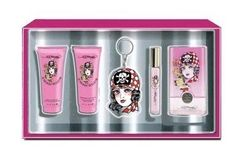 Ed Hardy Born Wild by Christian Audigier, 5 Piece Gift Set for Women by Christian Audigier. $34.14. Product:Ed Hardy Born Wild. Design House:Christian Audigier. Gift Set inclides: a 3.4 oz Eau De Parfum Spray, a .34 oz Eau De Parfum Rollerball, a 3 oz Shimmering Body Lotion, a 3 oz Bath and Shower Gel and a Key Chain. The perfume opens with refreshing fruity aromas of blackberry and black currant buds. A heart develops into intoxicating accords of magnolia and peach blosso...