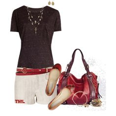"""Plum and Red"" by tmlstyle on Polyvore"