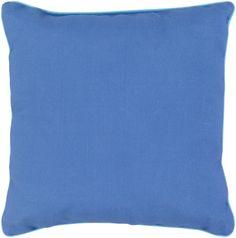 Surya Bahari Throw Pillow Blue, Green