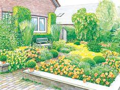 Klinkermauer im Vorgarten
