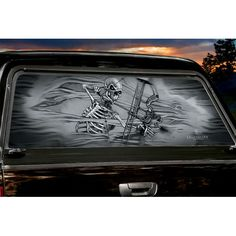 Cowboy With Gun On Horse Rear Window Graphic Part RWG See - Rear window hunting decals for trucks