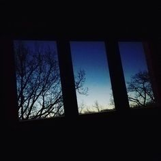 This is what I get up to every morning  #morning #architecture #design #window #nature #trees #view #dawn #sunrise #home #forest #colour #blue #sky #dark