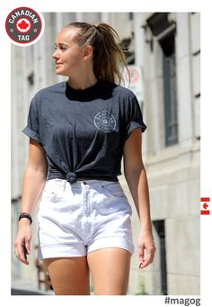 the unisex crew neck T-Shirt short sleeves/fine gauge jersey available in grey and blue from Grey Fashion, Street Fashion, Casual Street Style, Heather Black, Thyroid, Neck T Shirt, Passion For Fashion, White Shorts, Organic Cotton