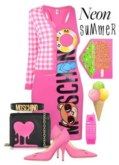 """""""Neon Summer"""" by sabine-713 ❤ liked on Polyvore featuring Moschino and Love Moschino"""