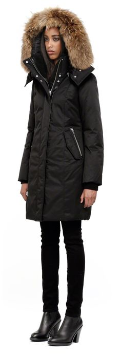 Mackage - VILLA BLACK WINTER DOWN PARKA WITH HOOD FOR WOMEN - Didn ...