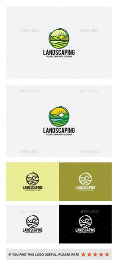 Landscaping Logo: Abstract Logo Design Template created by shazidesigns. Landscaping Logo, Landscaping Supplies, Garden Landscaping, Lawn And Landscape, City Landscape, Logo Design Template, Logo Templates, Logos Photography, Logo Garden