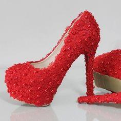 sapato da noiva vermelho salto 10cm Pesquisa Google