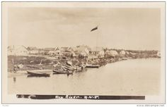 RP: Waterfront , HAY RIVER , N.W.T. , Canada , 10-20s Mackenzie River, Arctic Circle, Original Image, Paris Skyline, Postcards, Canada, Culture, Island