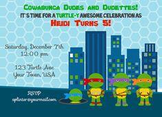 Teenage Mutant Ninja Turtle Invite by ckfireboots on Etsy, $10.00