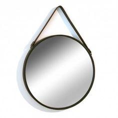 Miroir à suspendre très tendance à accrocher dans une entrée de maison - KOTECAZ Wall Mirrors Metal, Decoration, The Originals, Home Decor, Style, Bella, Industrial, Touch, Google