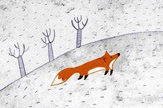 Fox Illustration by Nuria Diaz www.nuriadiaz.es