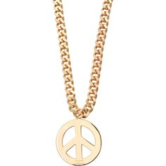 Moschino Peace and Love Necklace (795 BRL) ❤ liked on Polyvore featuring jewelry, necklaces, peace jewelry, peace symbol jewelry, peace sign jewelry, peace necklace and peace sign necklace