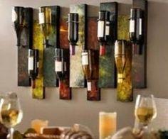 nine bottle wall wine holder