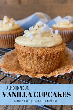 Almond Flour Cupcake Recipe, Gluten Free Vanilla Cake, Almond Flour Cakes, Almond Flour Recipes, Dairy Free Cupcakes, Almond Cupcakes, Healthy Cupcakes, Vanilla Cupcakes, Healthy Sweets