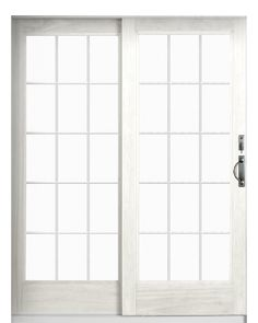 Add on window panes how to make your sliding glass doors for Sliding glass doors that look like french doors