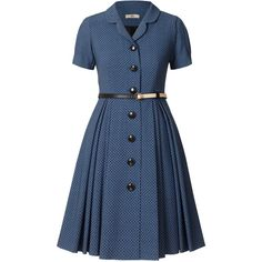 Official Orla Kiely online store with a huge range of our iconic Bags, Clothing, Accessories and Home. Collared Shirt Dress, Blue Shirt Dress, Vintage Dresses, Vintage Outfits, Vintage Fashion, Frock Fashion, Fashion Dresses, Moda Fashion, Frock For Women