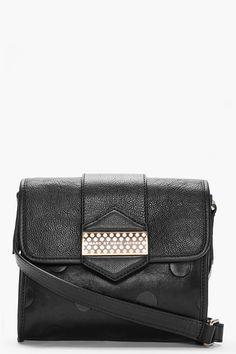 MARC BY MARC JACOBS black Flipping Dots Crossbody bag