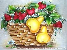 Resultado de imagem para pinturas em panos de pratos com frutas