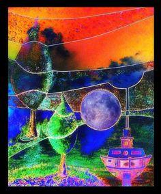 'Am Fluss 2' von Gertrude  Scheffler bei artflakes.com als Poster oder Kunstdruck $18.71