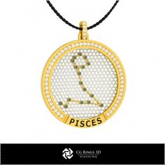 3D CAD Pisces Zodiac Constellation Pendant Cad Services, 3d Cad Models, Zodiac Constellations, Pisces Zodiac, Pendants, Accessories, Jewelry, Jewellery Making, Jewlery