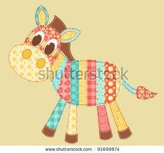 Children's application. Zebra. Patchwork series. Vector illustration. by Amalga, via Shutterstock