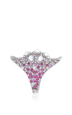 Pearl & Ruby Madagascar Ring by Venyx for Preorder on Moda Operandi