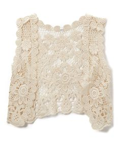 Take a look at this Cream Floral Lace Vest - Toddler & Girls today!