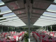 Airclos customize a total of 6 series of retractable roof skylight which can be used to enclose open space. http://www.airclos.com/retractable-roof-skylight/
