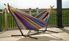 Groupon - Vivere Cotton Double Hammock with Stand. Available in 5 Colors. in [missing {{location}} value]. Groupon deal price: $99.99